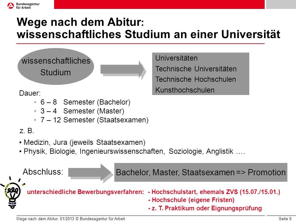 Wege nach dem Abitur: wissenschaftliches Studium an einer Universität