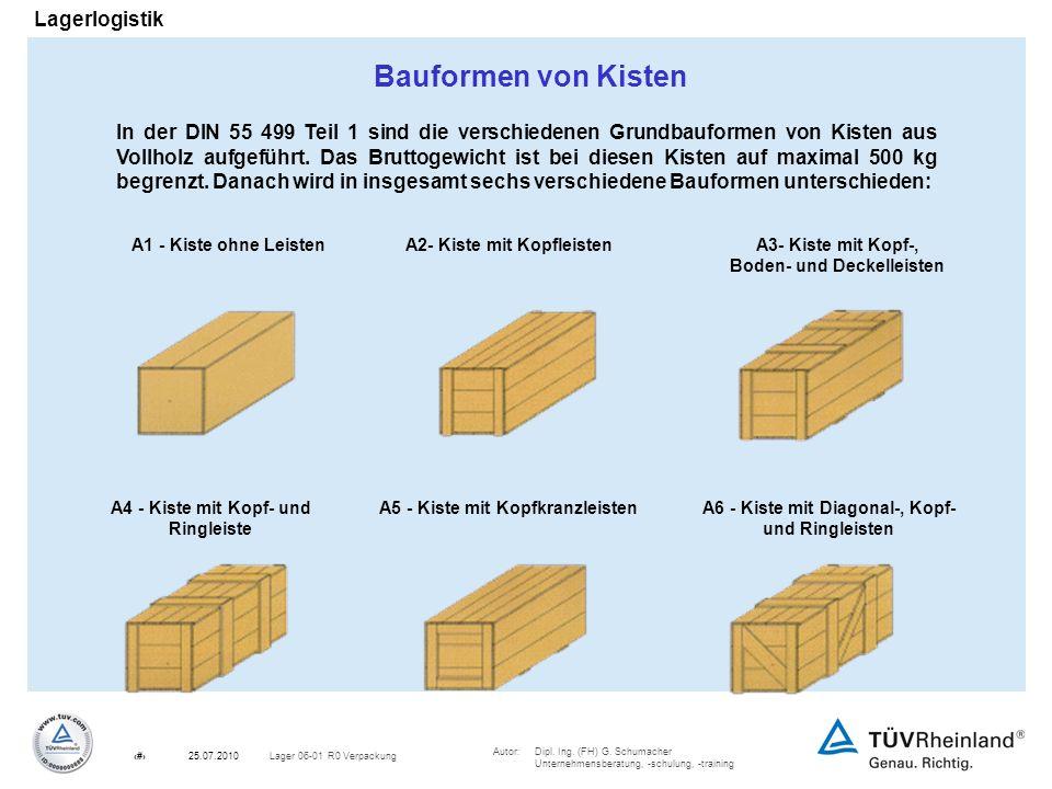 Bauformen von Kisten
