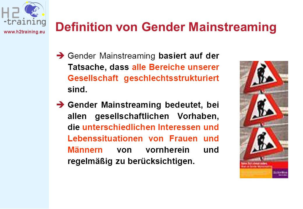 Definition von Gender Mainstreaming