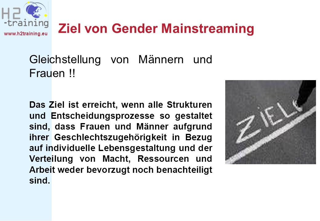 Ziel von Gender Mainstreaming