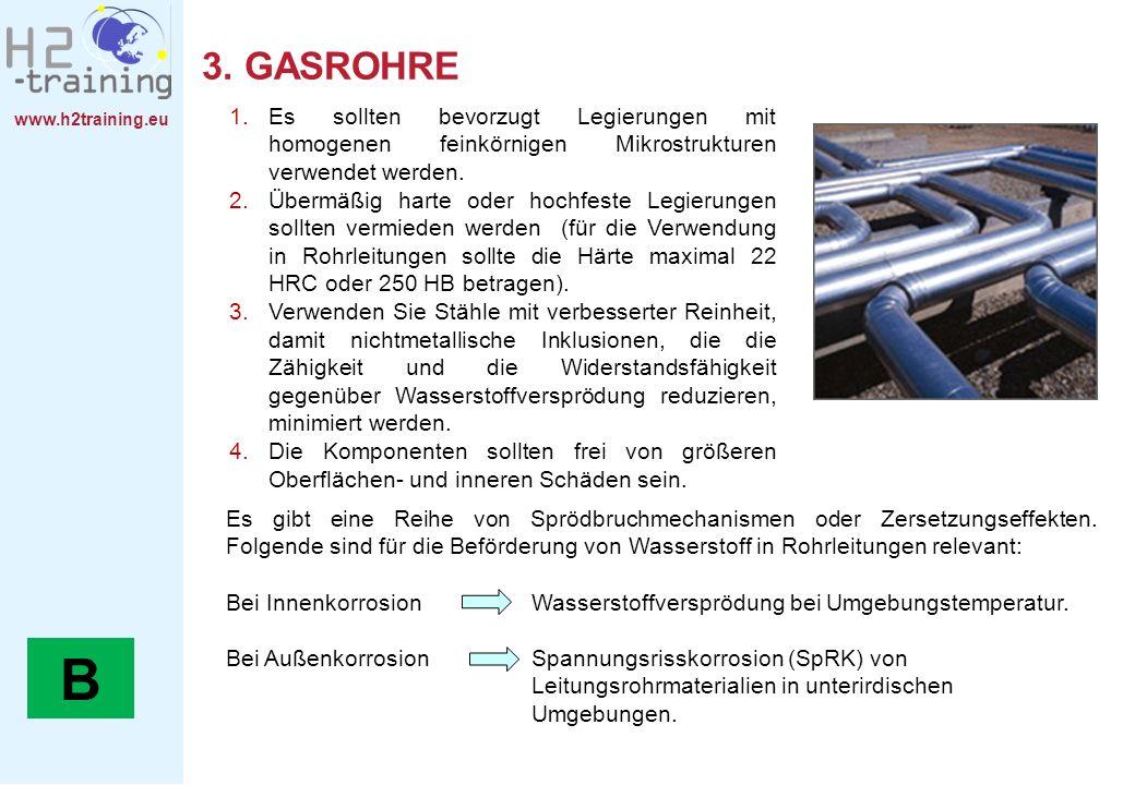3. GASROHREEs sollten bevorzugt Legierungen mit homogenen feinkörnigen Mikrostrukturen verwendet werden.