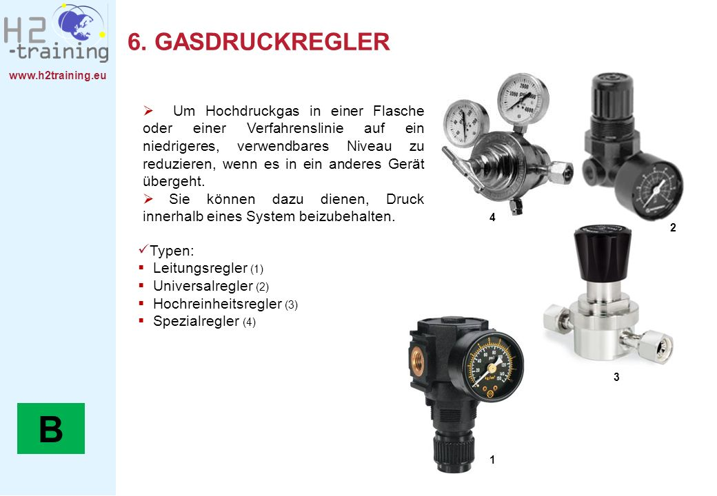 6. GASDRUCKREGLER