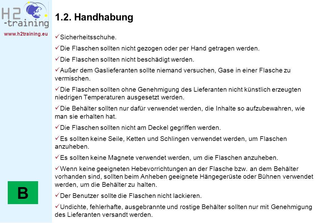 B 1.2. Handhabung Sicherheitsschuhe.