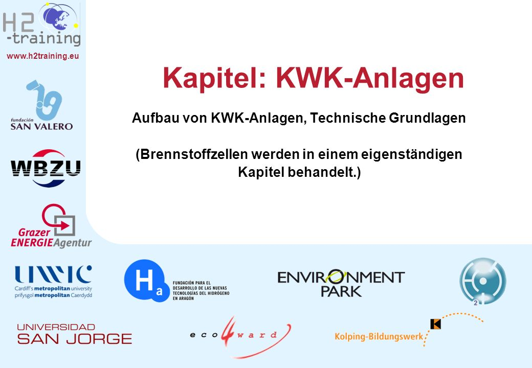 H2 Training Manual H2 Training Manual. Kapitel: KWK-Anlagen.