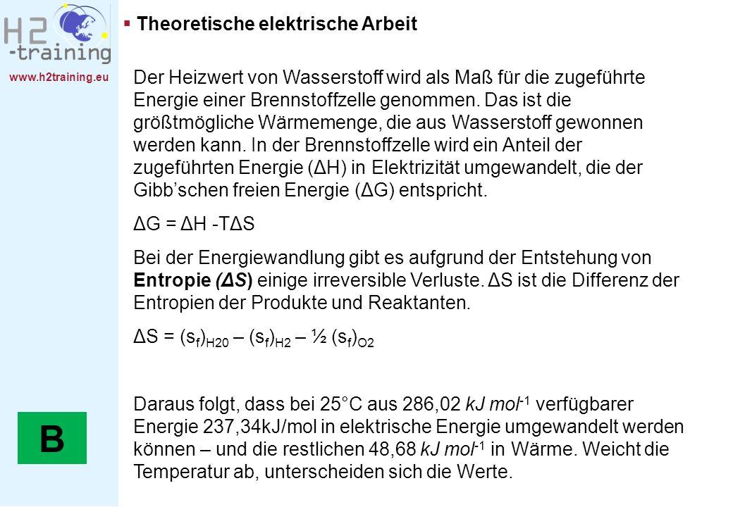 B Theoretische elektrische Arbeit