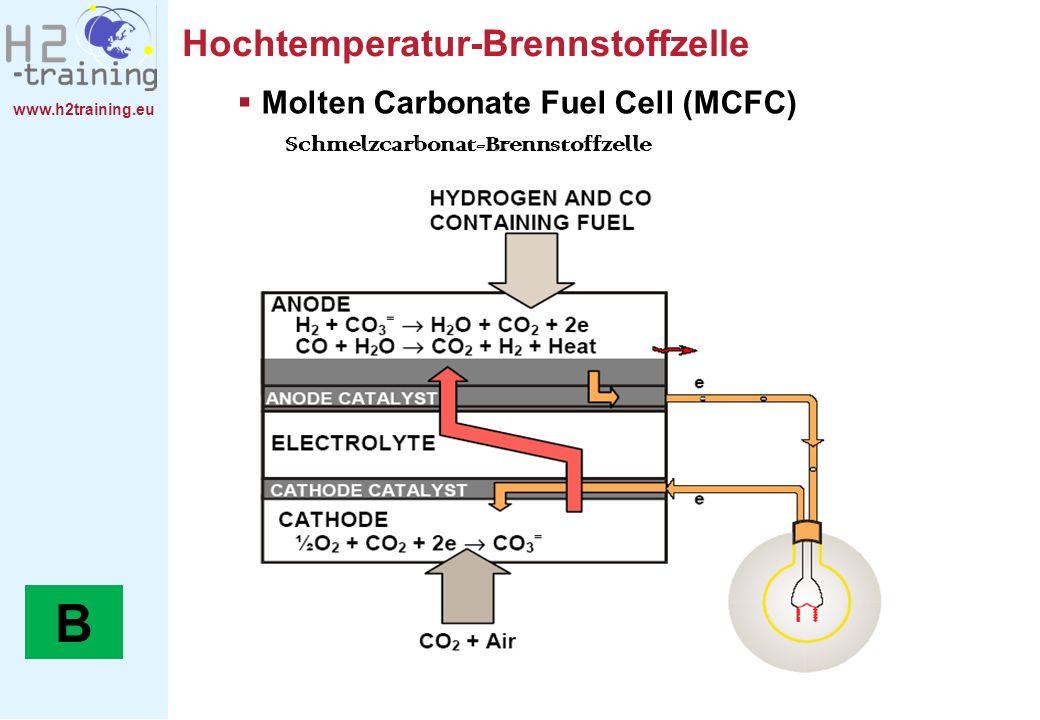 B Hochtemperatur-Brennstoffzelle Molten Carbonate Fuel Cell (MCFC)