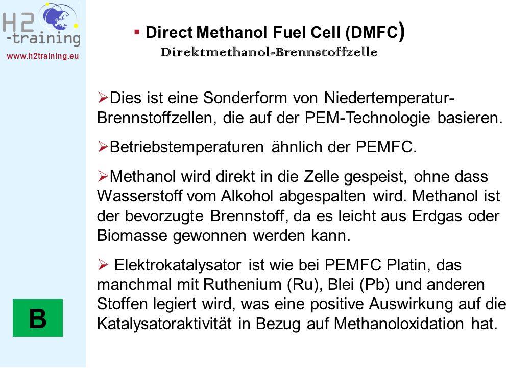 Direct Methanol Fuel Cell (DMFC) Direktmethanol-Brennstoffzelle