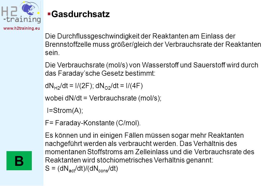 H2 Training Manual Gasdurchsatz.