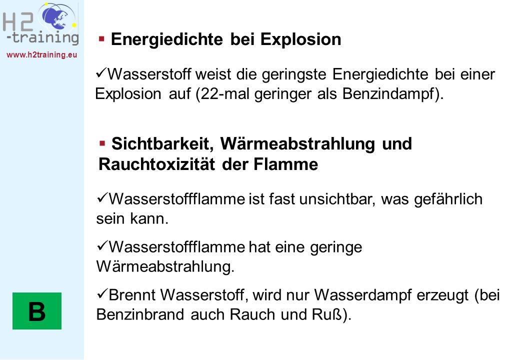 B Energiedichte bei Explosion