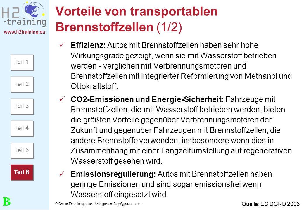Vorteile von transportablen Brennstoffzellen (1/2)