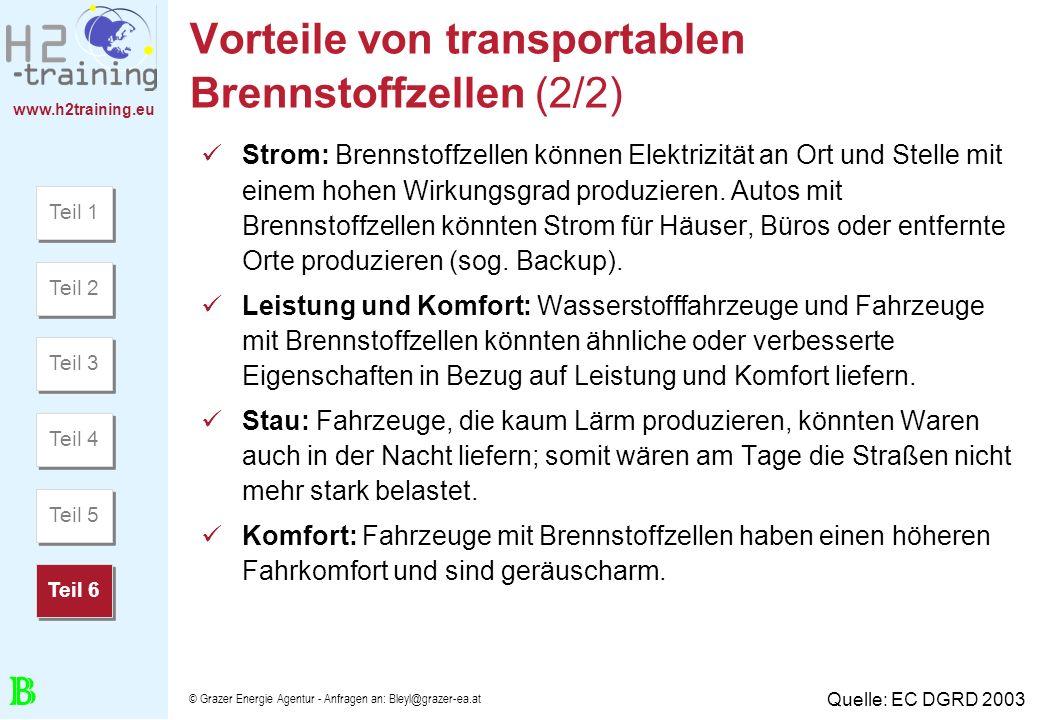 Vorteile von transportablen Brennstoffzellen (2/2)