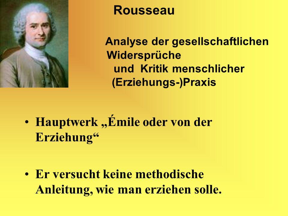 Rousseau. Analyse der gesellschaftlichen Widersprüche