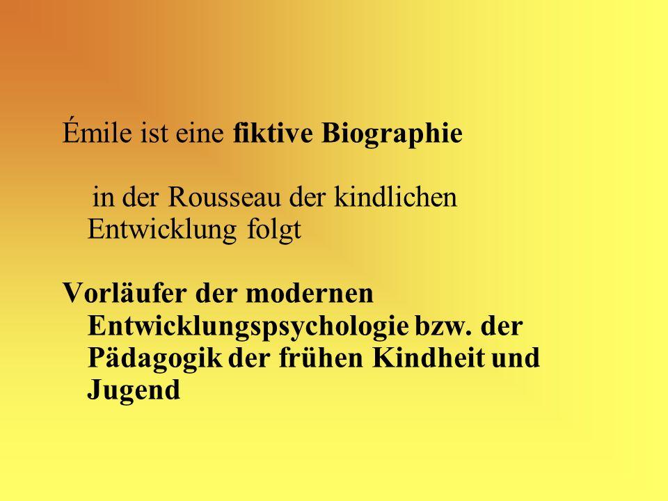 Émile ist eine fiktive Biographie