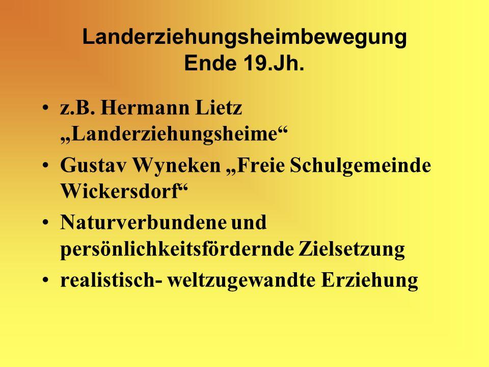 Landerziehungsheimbewegung Ende 19.Jh.