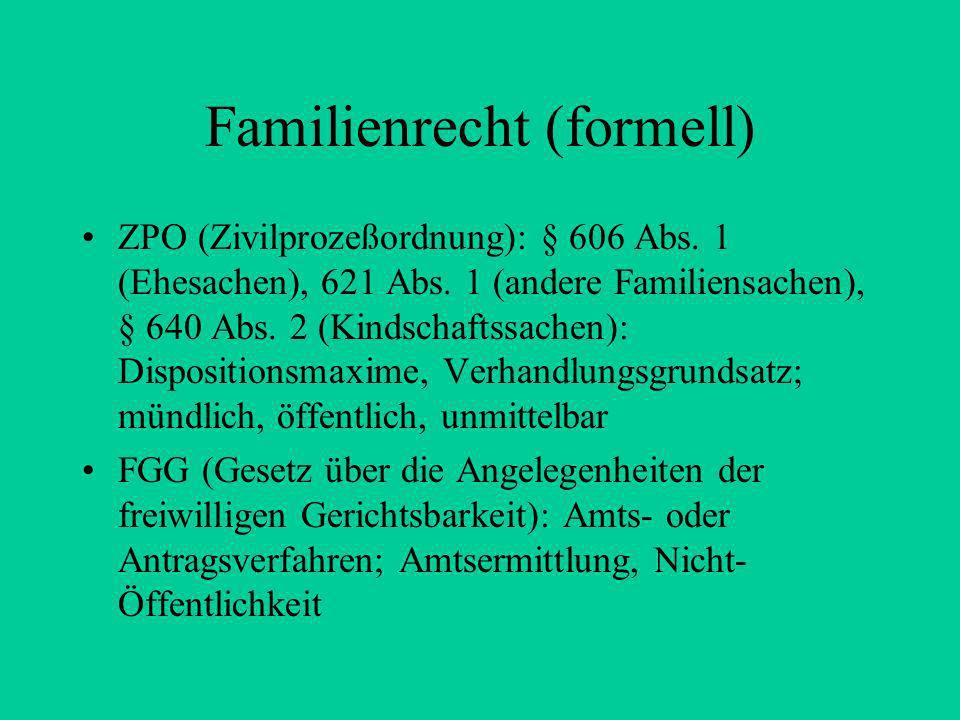 Familienrecht (formell)
