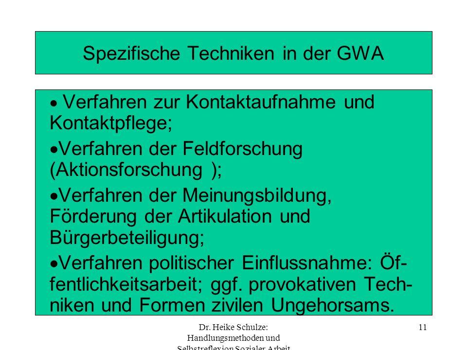 Spezifische Techniken in der GWA