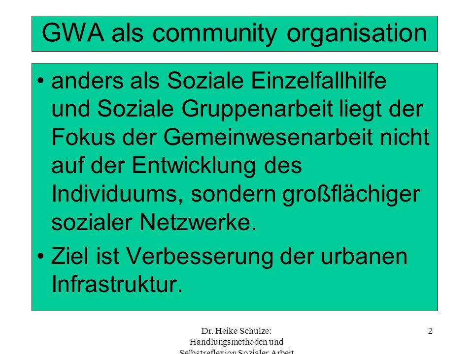 GWA als community organisation