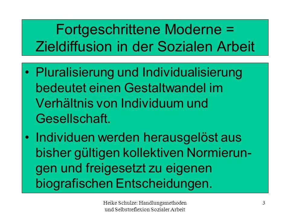 Fortgeschrittene Moderne = Zieldiffusion in der Sozialen Arbeit