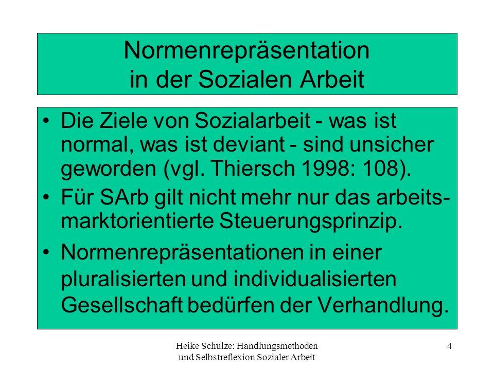 Normenrepräsentation in der Sozialen Arbeit