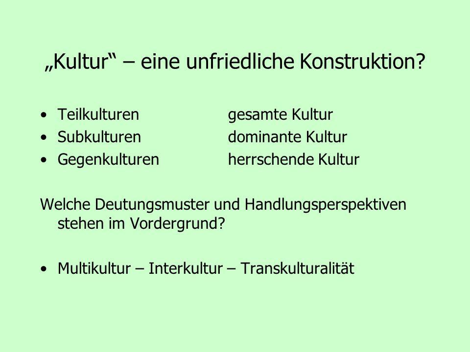 """""""Kultur – eine unfriedliche Konstruktion"""