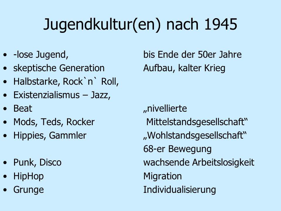 Jugendkultur(en) nach 1945