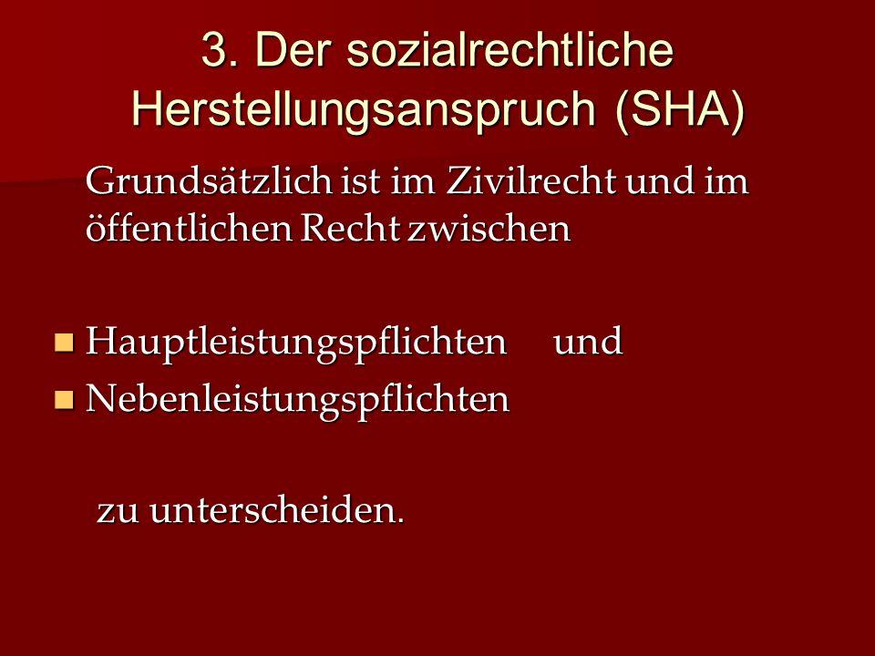 3. Der sozialrechtliche Herstellungsanspruch (SHA)