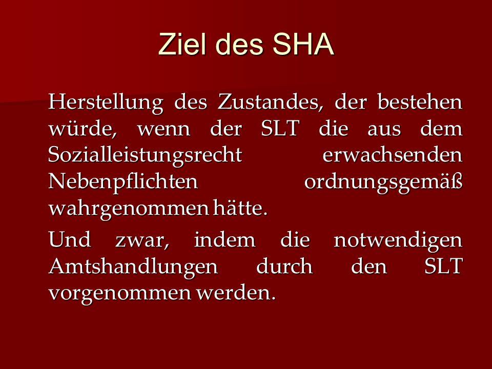 Ziel des SHA