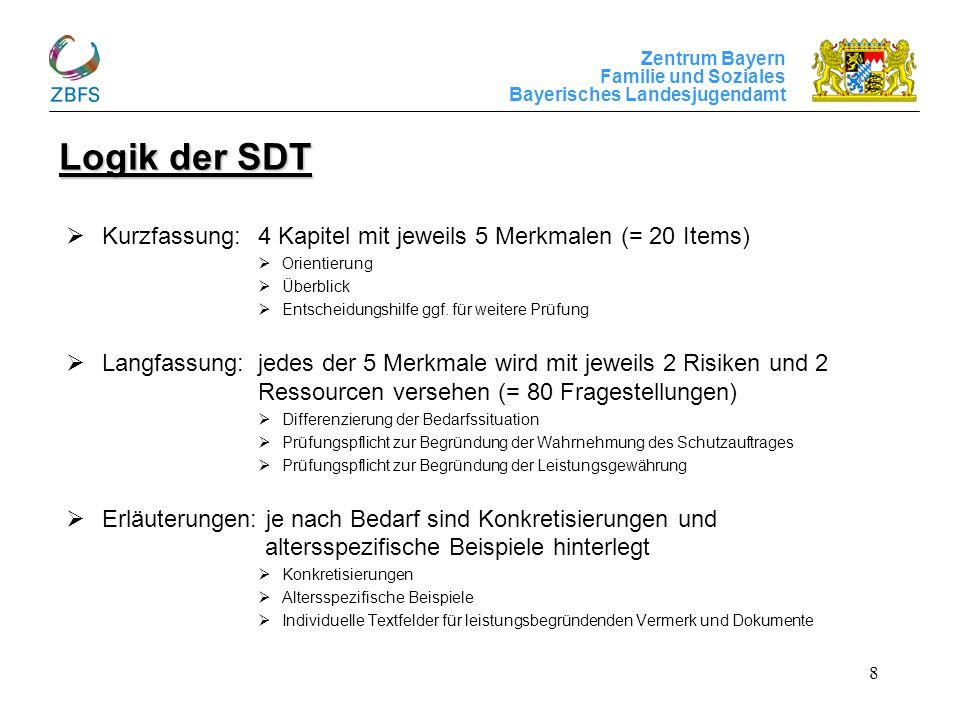 Logik der SDT Kurzfassung: 4 Kapitel mit jeweils 5 Merkmalen (= 20 Items) Orientierung. Überblick.