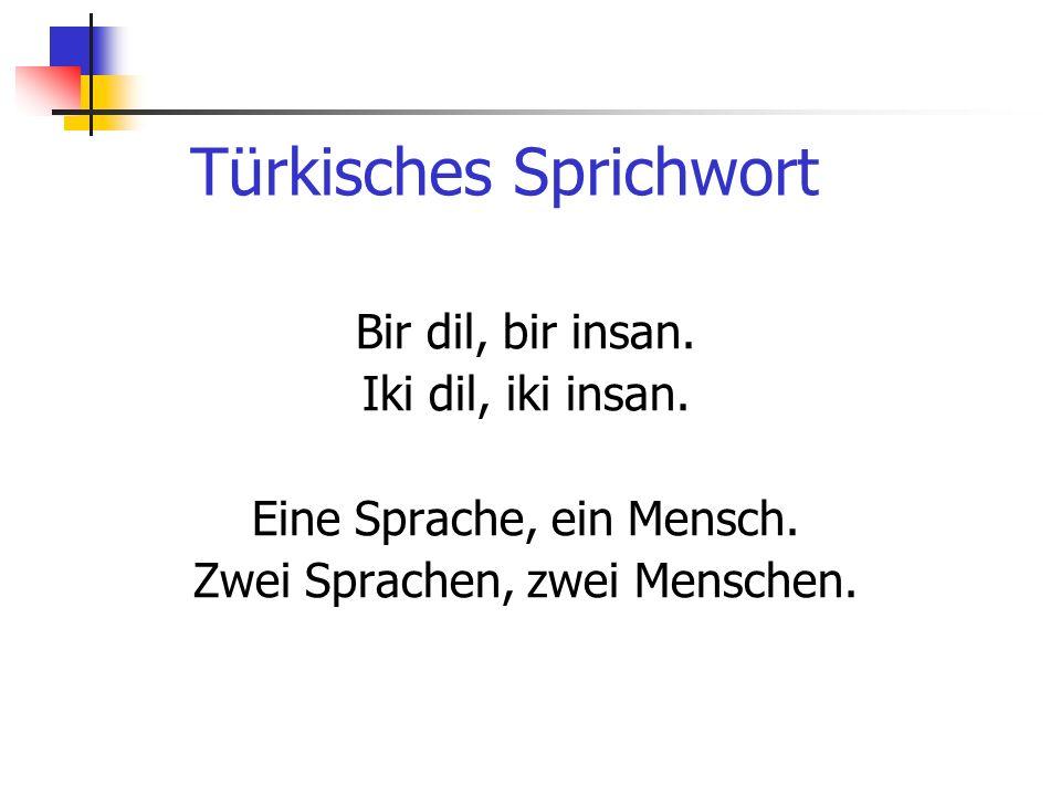 Türkisches Sprichwort