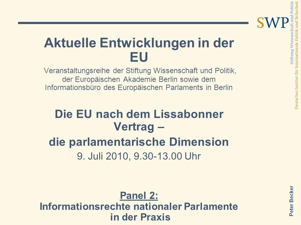 Aktuelle Entwicklungen in der EU
