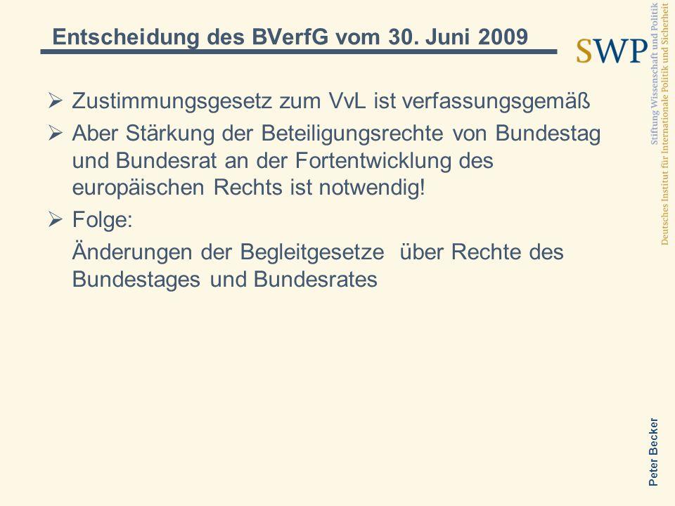 Entscheidung des BVerfG vom 30. Juni 2009