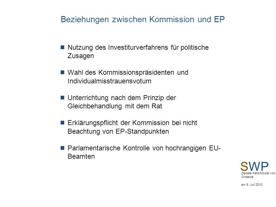 Beziehungen zwischen Kommission und EP