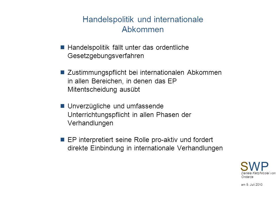 Handelspolitik und internationale Abkommen