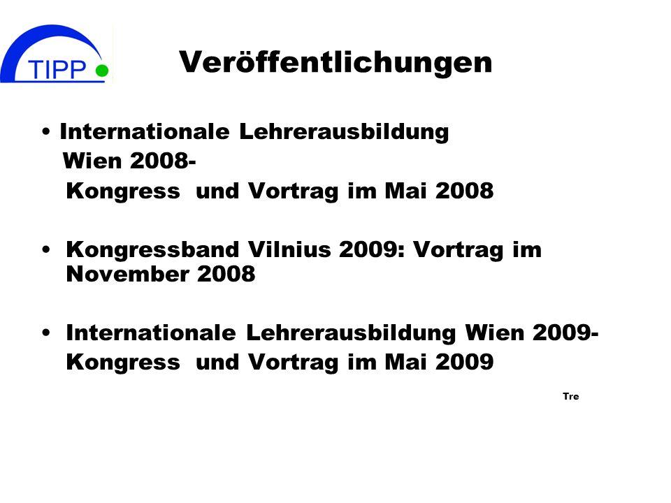 Veröffentlichungen • Internationale Lehrerausbildung Wien 2008-