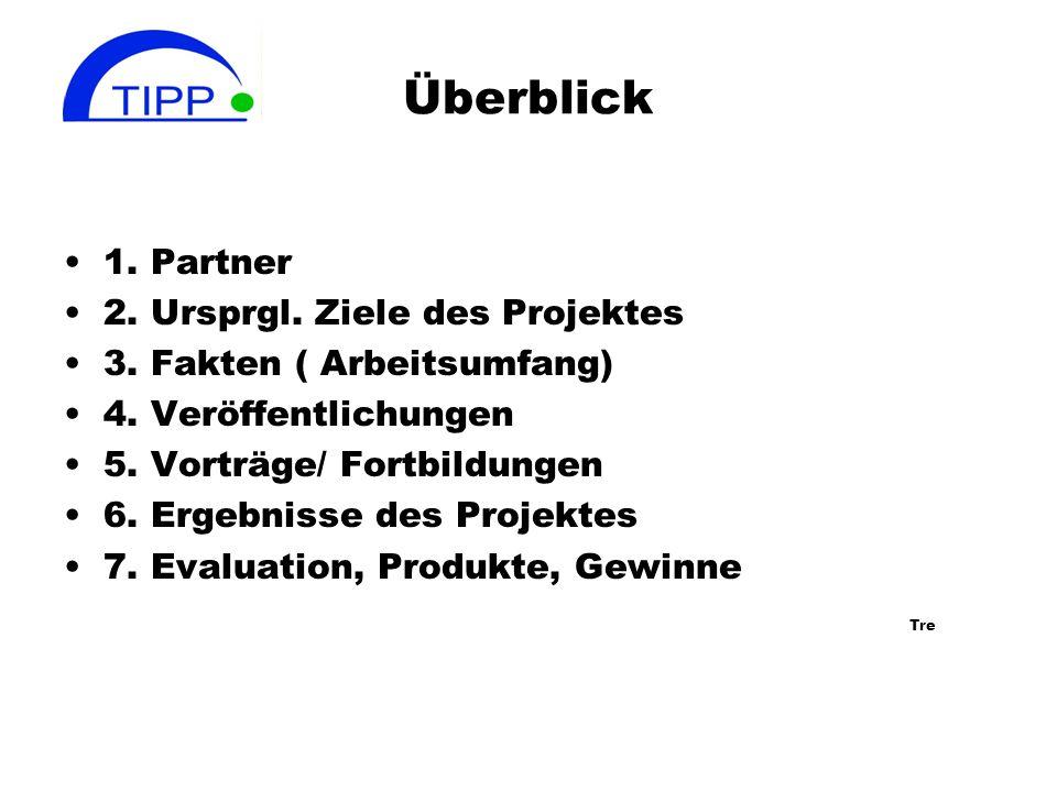 Überblick 1. Partner 2. Ursprgl. Ziele des Projektes
