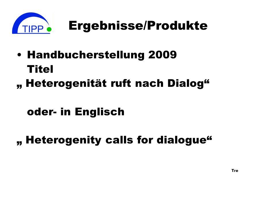 Ergebnisse/Produkte Handbucherstellung 2009 Titel
