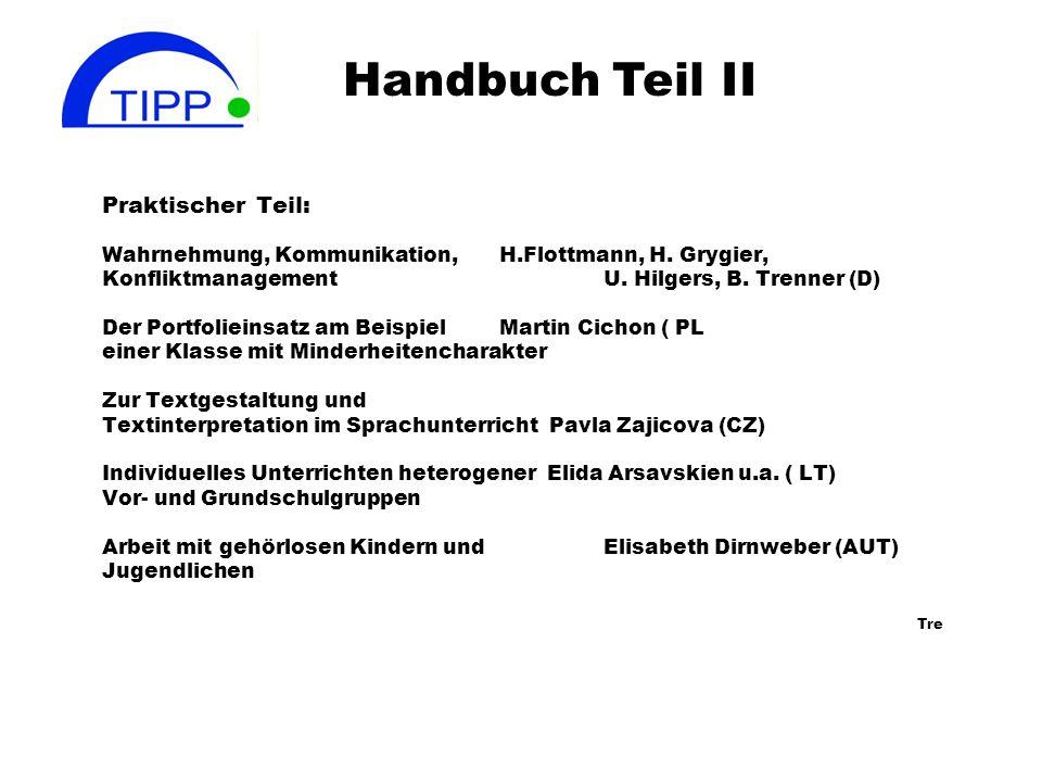 Handbuch Teil II Praktischer Teil: Tre