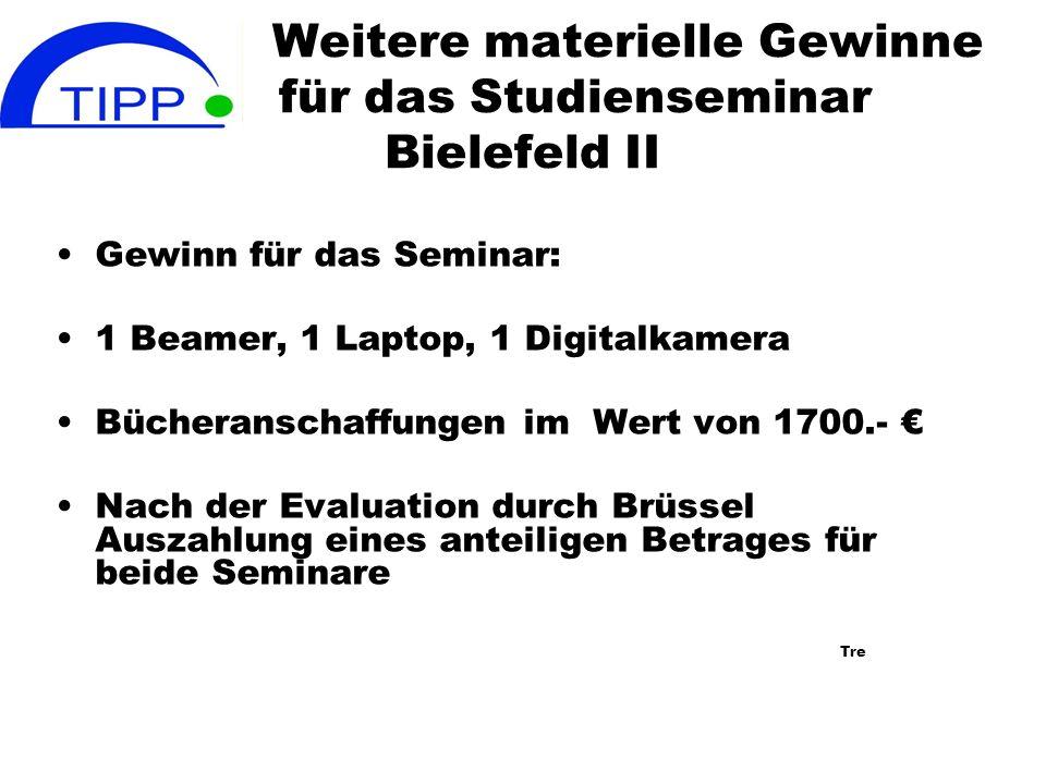 Weitere materielle Gewinne für das Studienseminar Bielefeld II