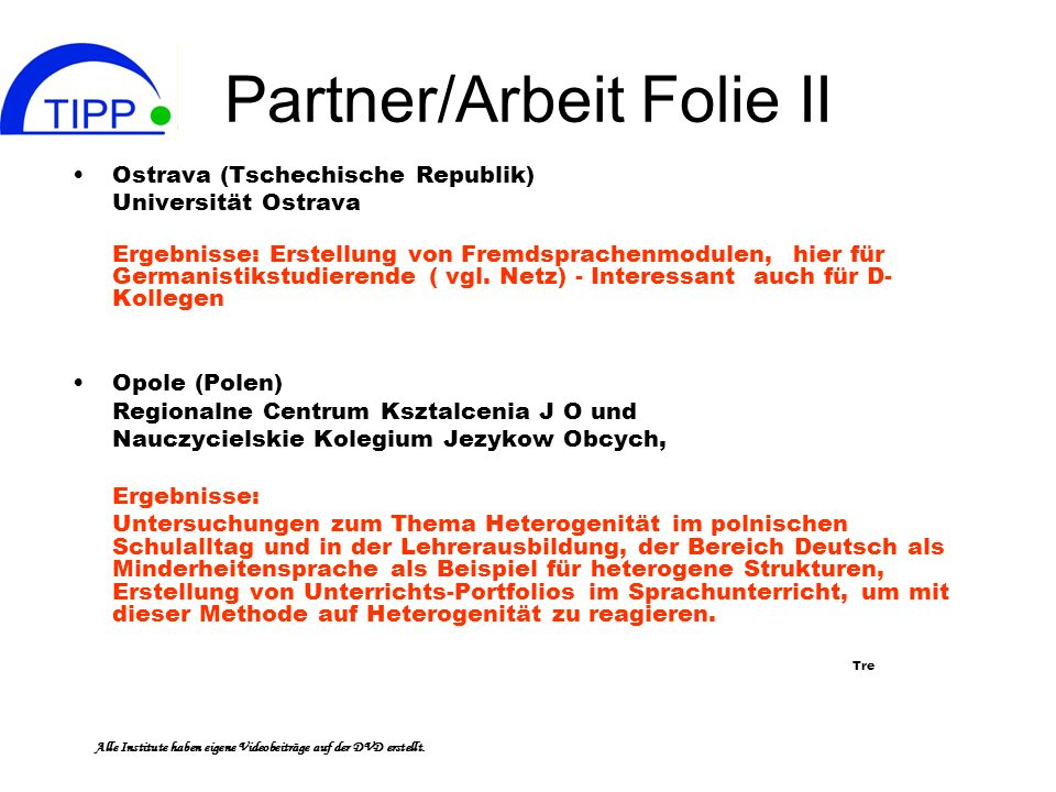 Partner/Arbeit Folie II