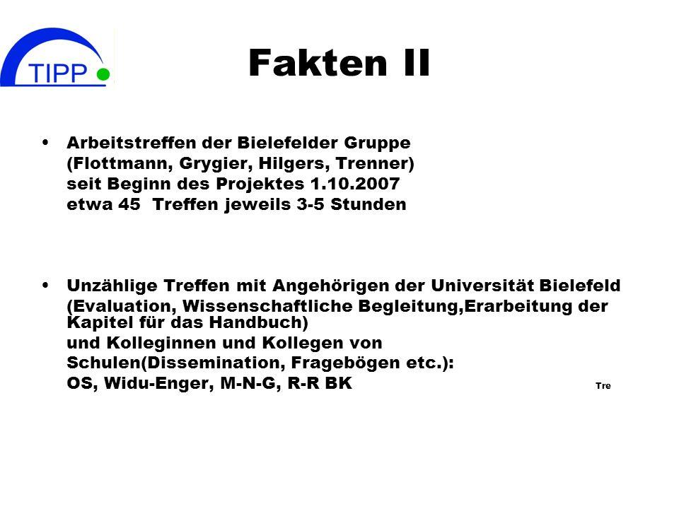 Fakten II Arbeitstreffen der Bielefelder Gruppe