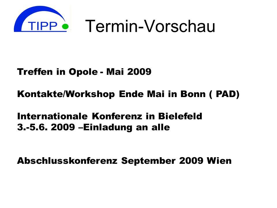 Termin-Vorschau Treffen in Opole - Mai 2009