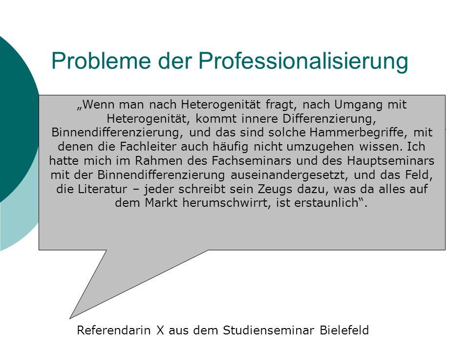 Probleme der Professionalisierung