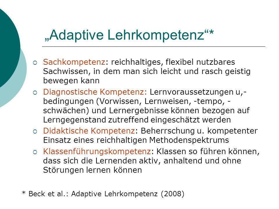 """""""Adaptive Lehrkompetenz *"""