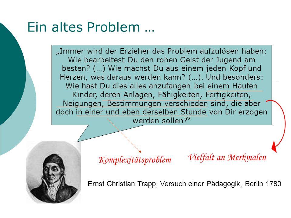 Ein altes Problem … Vielfalt an Merkmalen Komplexitätsproblem