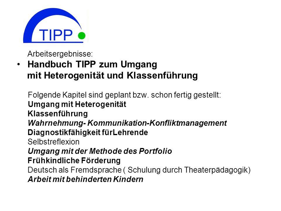 Handbuch TIPP zum Umgang mit Heterogenität und Klassenführung