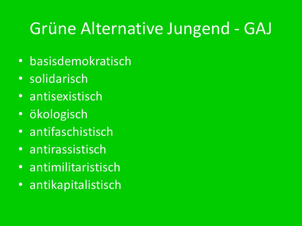 Grüne Alternative Jungend - GAJ