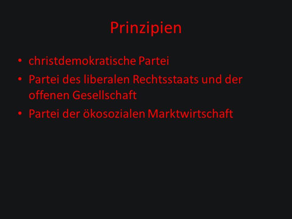 Prinzipien christdemokratische Partei