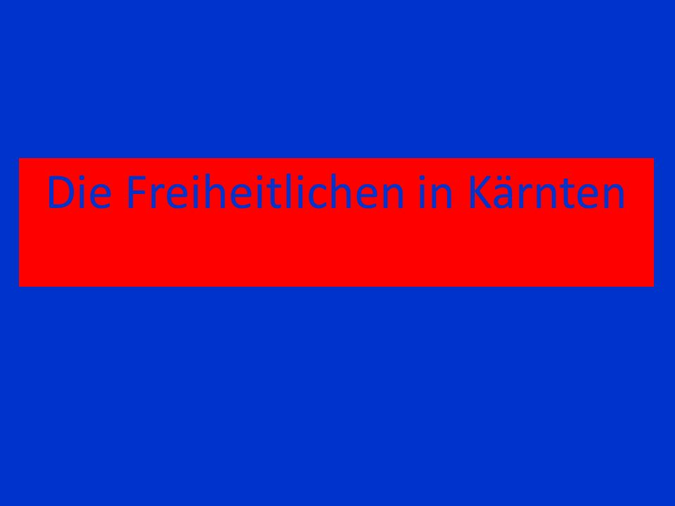 Die Freiheitlichen in Kärnten