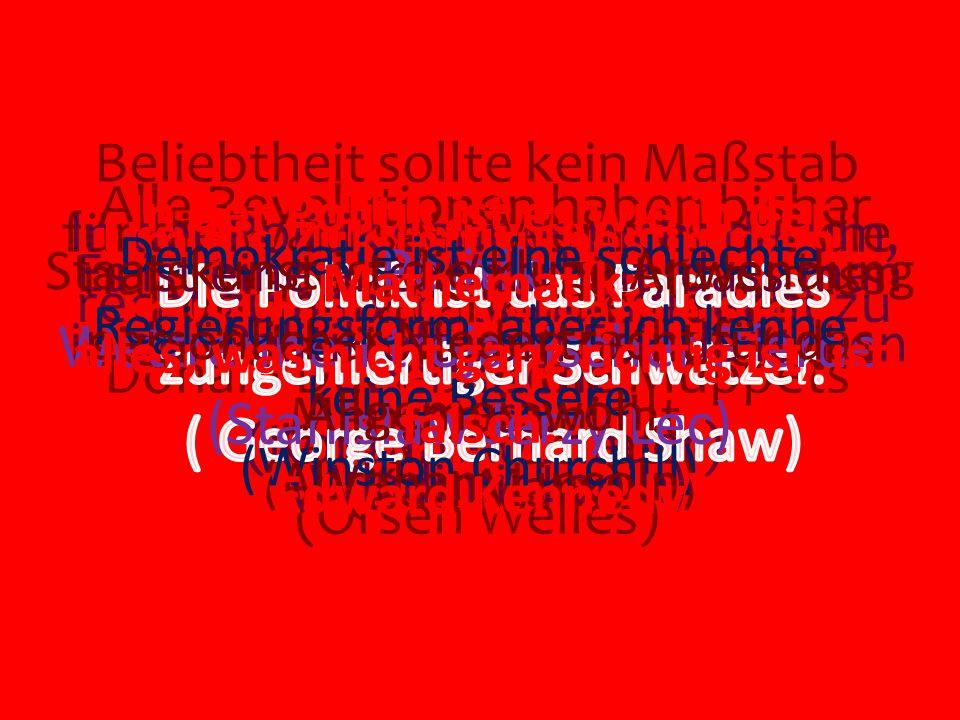 Politik: Wettrennen trojanischer Pferde (Stanislaw Jerzy Lec)
