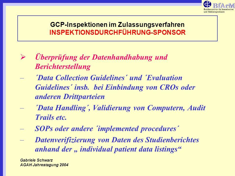 Überprüfung der Datenhandhabung und Berichterstellung